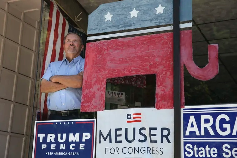 Howard Merrick is the GOP chairman in Schuylkill County. Merrick is at GOP headquarters in Pottsville, Monday, July 20, 2020