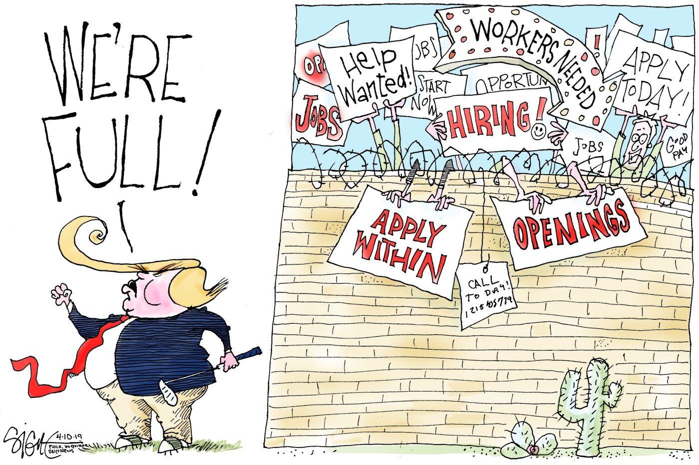 Political Cartoon: WE'RE FULL