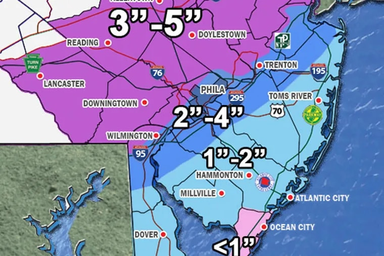 Snowfall projections as of 4 p.m. Friday March 20, 2015. (WeatherSavior.com)