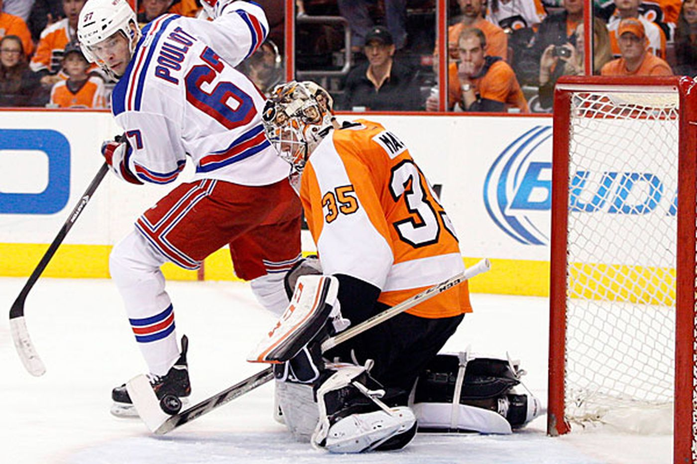 Inside the Series: Rangers want to make it tougher on Flyers' Mason