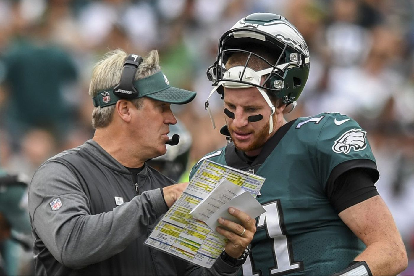 Eagles' Carson Wentz, Doug Pederson named Maxwell Club player and coach of the year