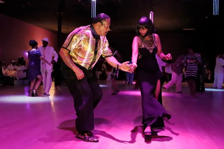 Tony Powell and his wife, Rita Redfern-Powell, dance the night away at the Stardust Ballroom in Bellmawr, N.J. on July 17. The Powells are from Philadelphia.