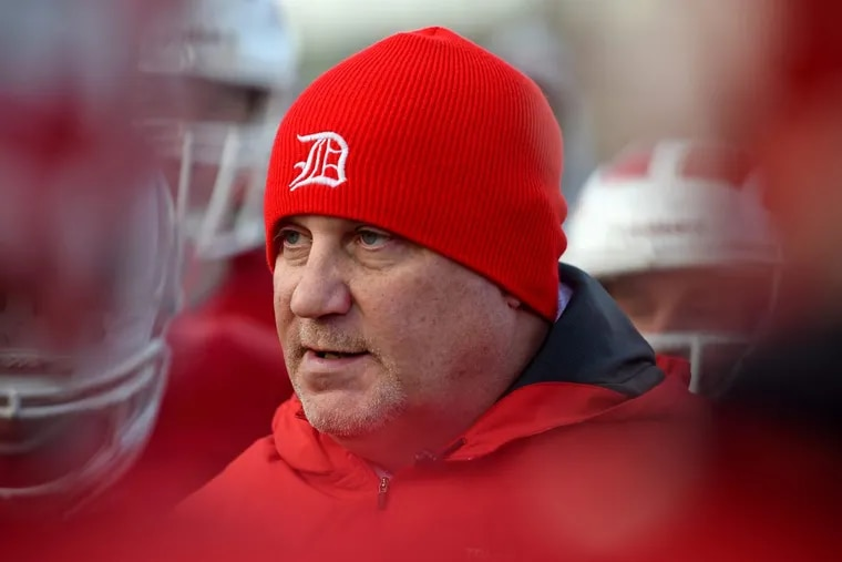 Delsea head football coach Sal Marchese at practice November 28, 2016.
