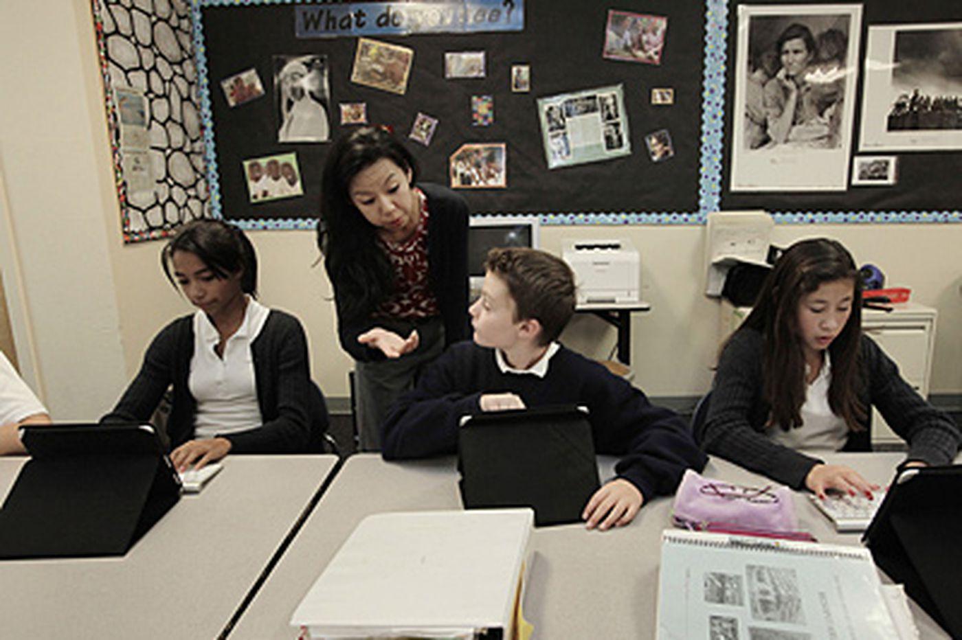 Schools test iPads in classrooms