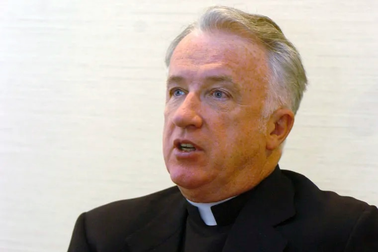 Michael Bransfield photographed in his office at the Roman Catholic Diocese of Wheeling-Charleston in West Virginia in 2005.