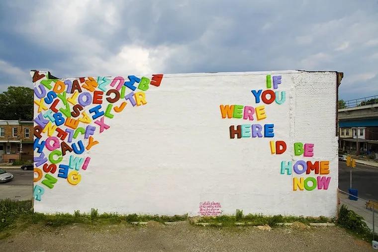 Embark on a virtual tour of Mural Arts' popular Love Letter murals.