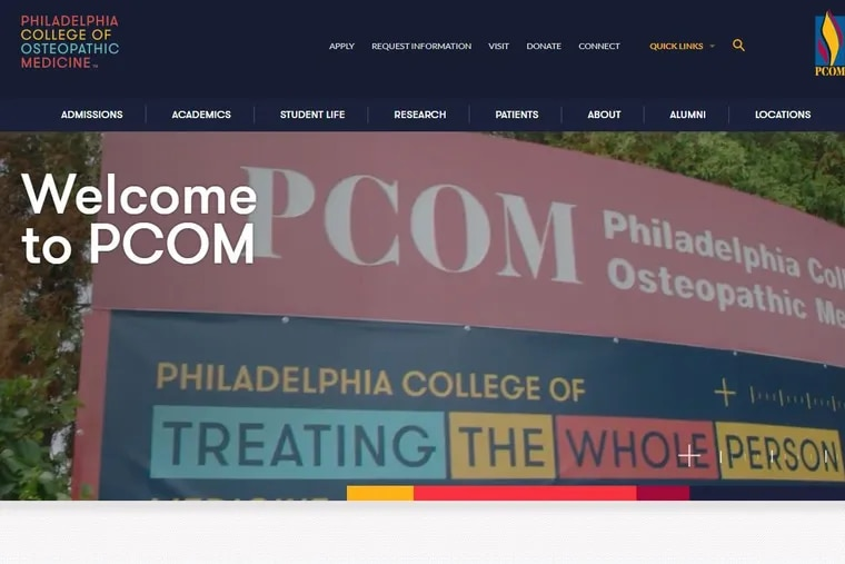 Philadelphia College of Osteopathic Medicine plans to open a second medical school campus in Georgia, where if first entered the market in 2005. PCOM's main campus, shown here in an image from the nonprofits website, is along City Avenue, on the western edge of Philadelphia.