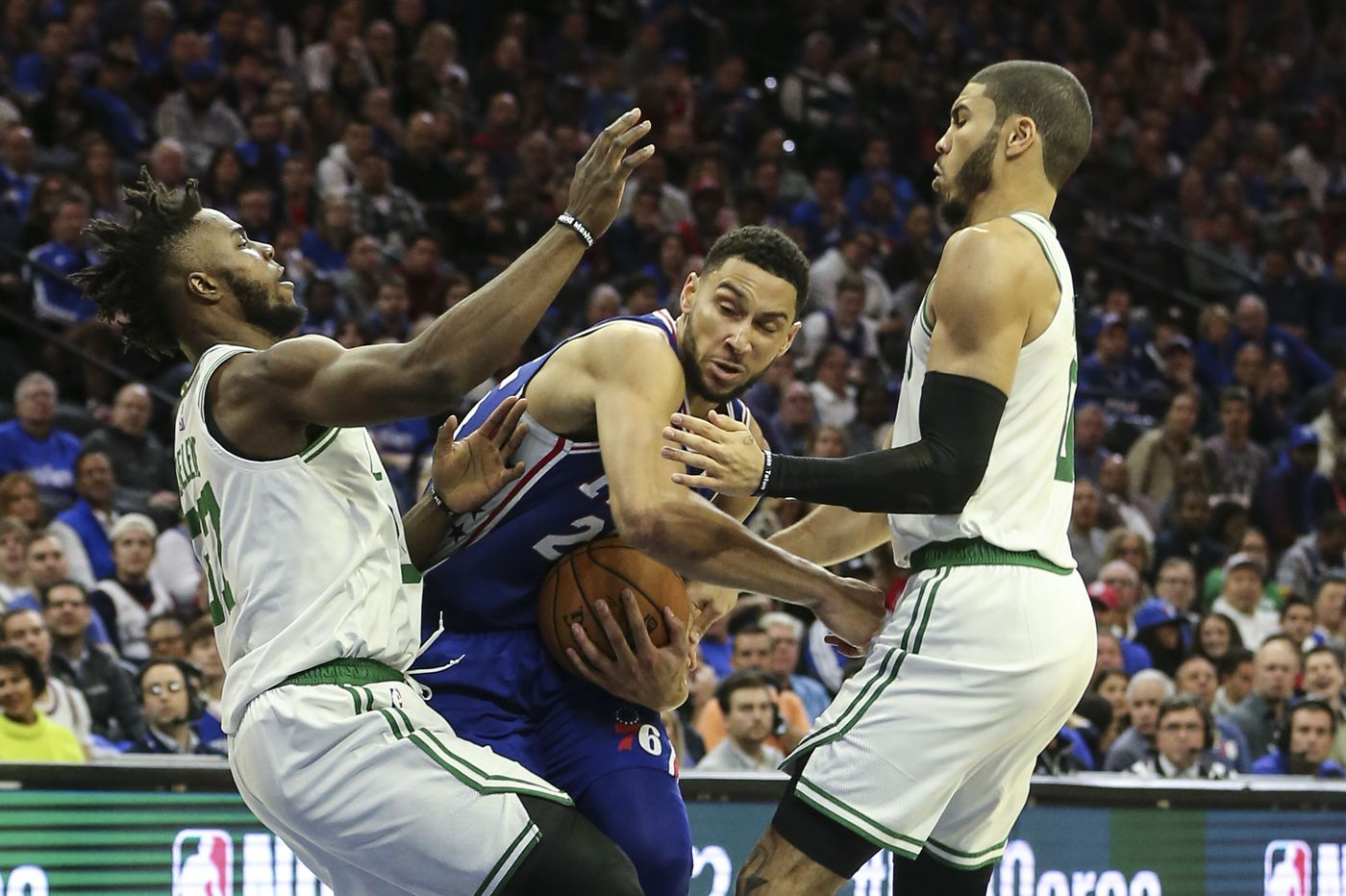 Sixers 107, Celtics 93: Ben Simmons leads season-opening victory against division rival