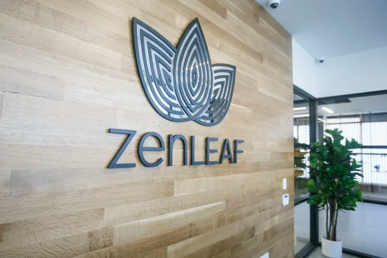 The entrance of the Zen Leaf cannabis dispensary in Neptune, N.J.