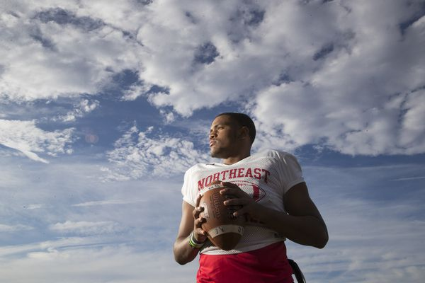 Comeback kid: Northeast quarterback Charles Britt's emotional return to football