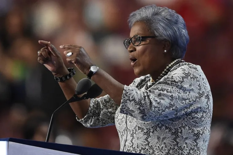 Donna Brazile, vice chair of the DNC, addresses the delegates during the 2nd night of the DNC in Philadelphia July 26, 2016.