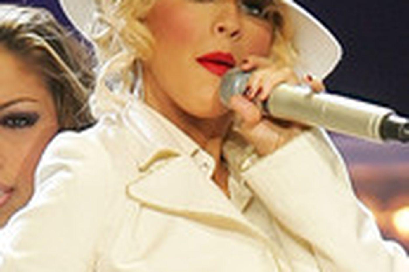 Aguilera's intensity gets a little tiring