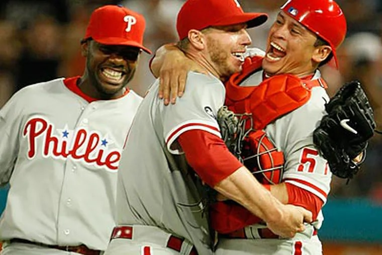 Roy Halladay's perfect game was the second in Phillies' history. (AP Photo/Wilfredo Lee)