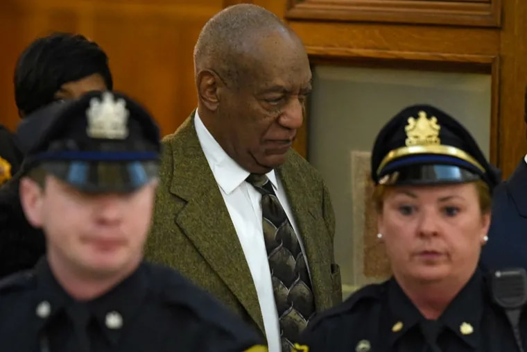 Bill Cosby, leaves Courtroom A at the Montgomery County Courthouse in Norristown, PA, on Tuesday, Feb. 2, 2016 for a lunch break during a pre-trial hearing in his sexual assault case.