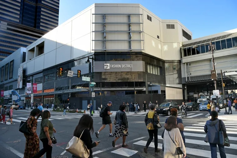The poor treatment of the exterior of the old Gallery Mall on Market Street shows how hard it was to turn an inward-facing shopping mall into a true urban building.