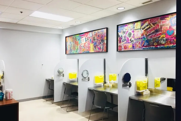 The supervised injection site in the Sandy Hill Community Health Centre in Ottawa, Canada.