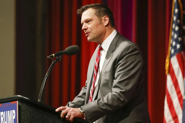 Kansas Secretary of State Kris Kobach, is vice chair of President Trump's Advisory Commission on Election Integrity.