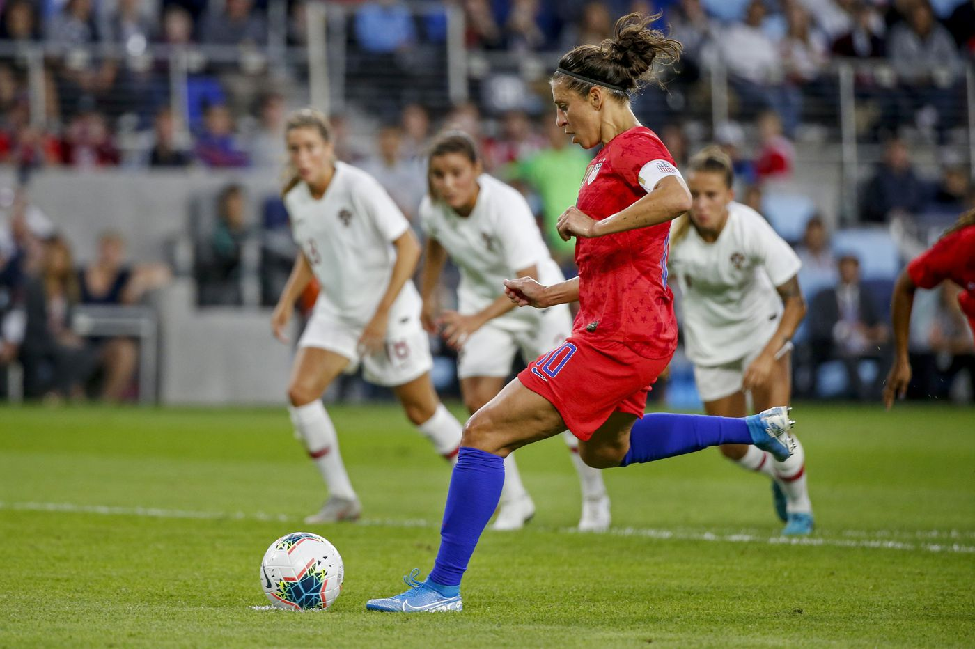Carli Lloyd's goals, Kristen Hamilton's USWNT debut highlight 3-0 win over Portugal