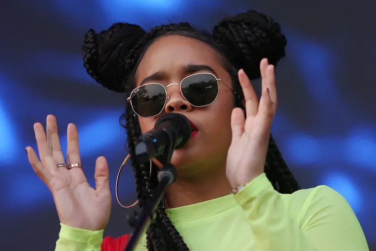 H.E.R. performs at Roots Picnic at the Mann Center in 2019. The singer born Gabriella Wilson is playing the Met Philadelphia in October.