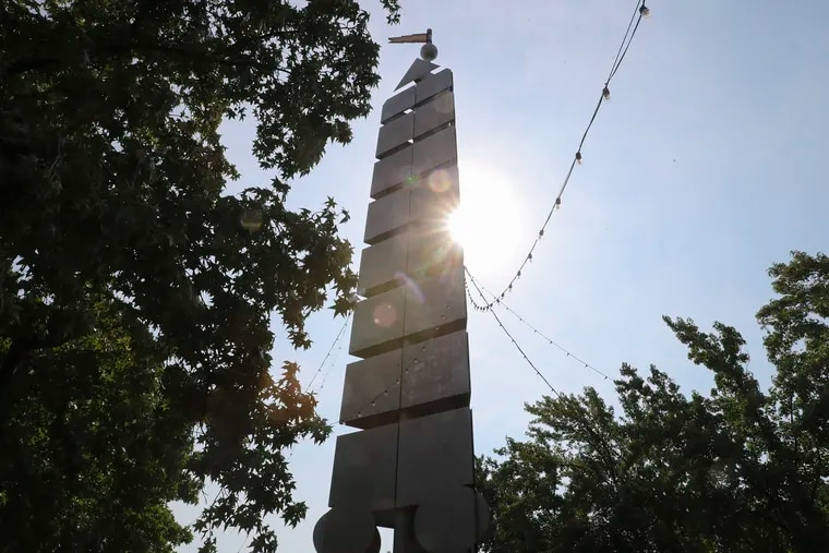 The Columbus monument at Penn's Landing in Philadelphia is photographed on Wednesday. A lawsuit involving the statue in Philadelphia has been settled, and the monument will remain.