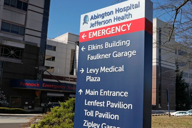 Abington Hospital Jefferson Health in Abington, Pa. on Monday.  The Jefferson health system began to cut back on elective surgeries on March 13.