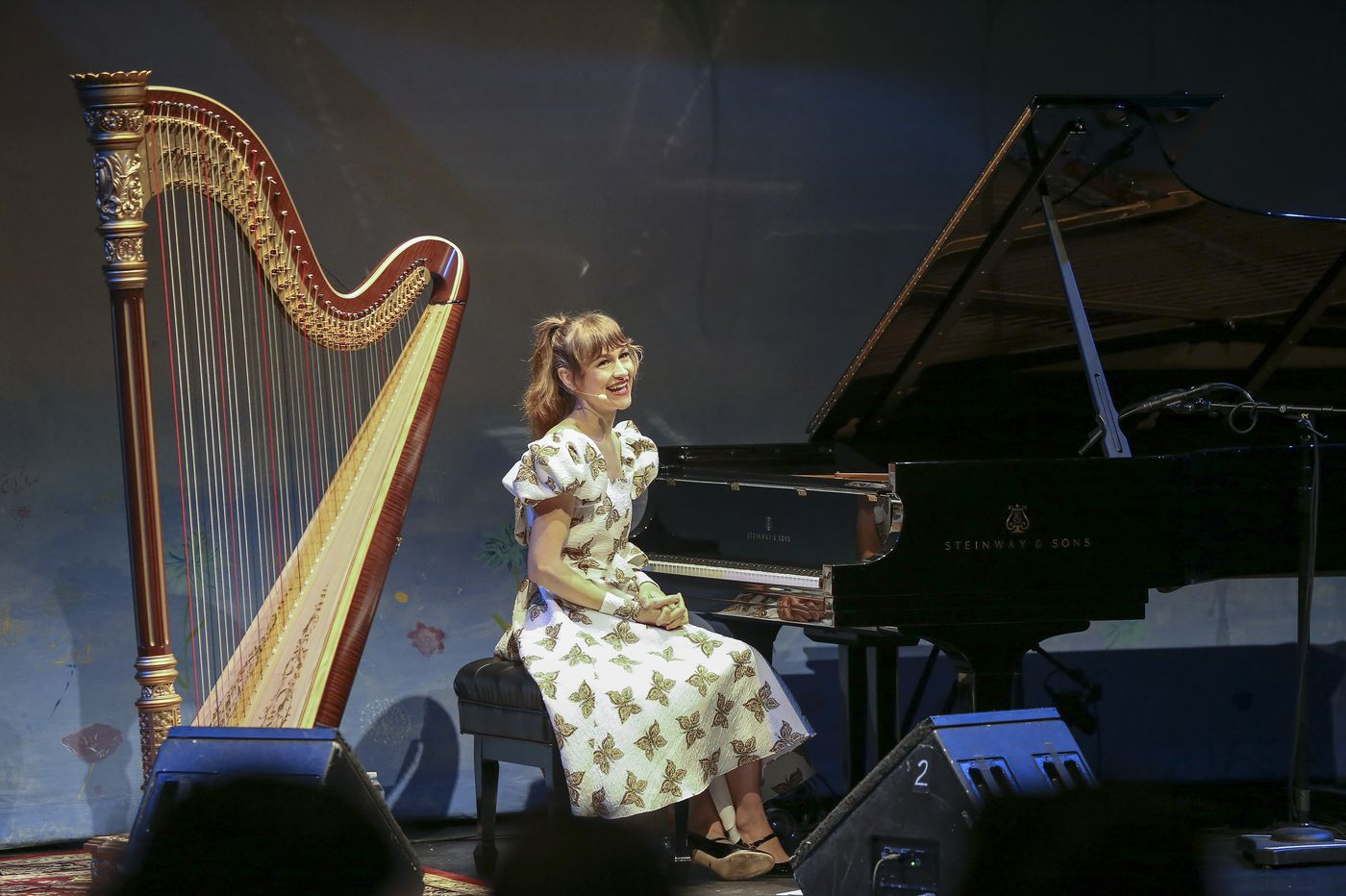 Review: Joanna Newsom, plucky in more ways than one at the Kimmel