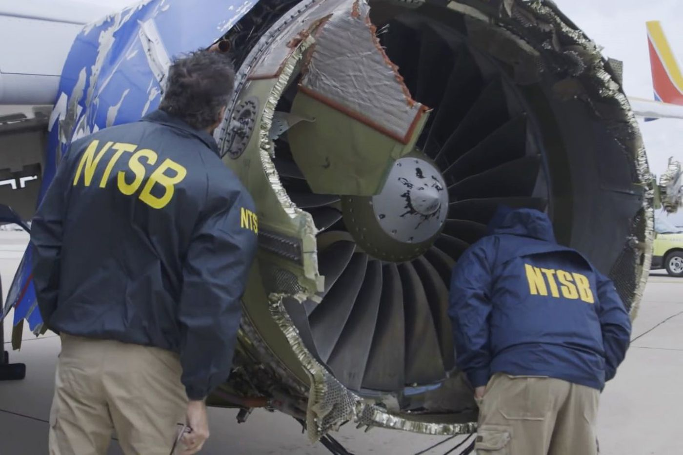 How experts found pieces of the Southwest jet from 65 miles away