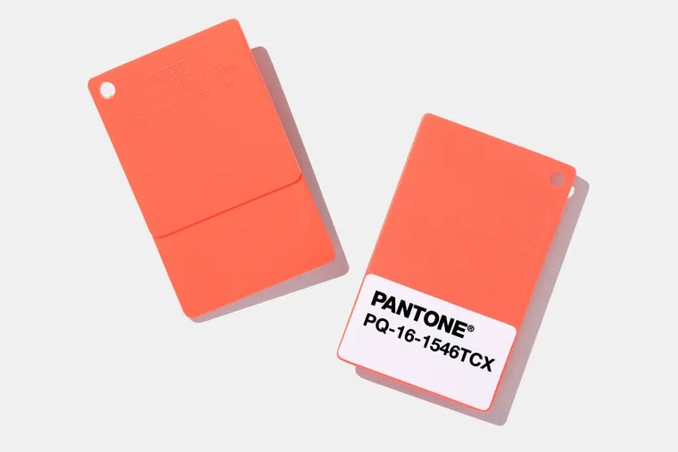 Living Coral swatches by Pantone.