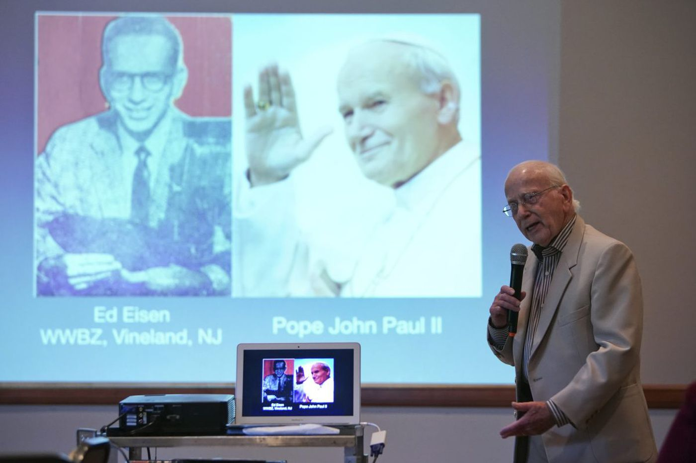Octogenarian Ed Eisen covered presidents, popes and now tells his tales for a living