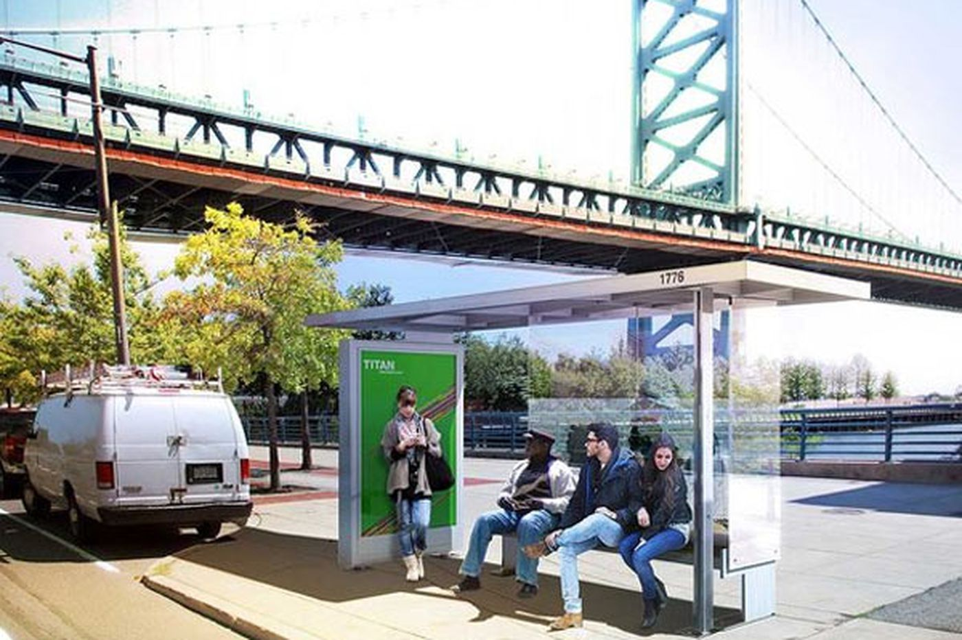 Proposal for advertising on city bus shelters advances