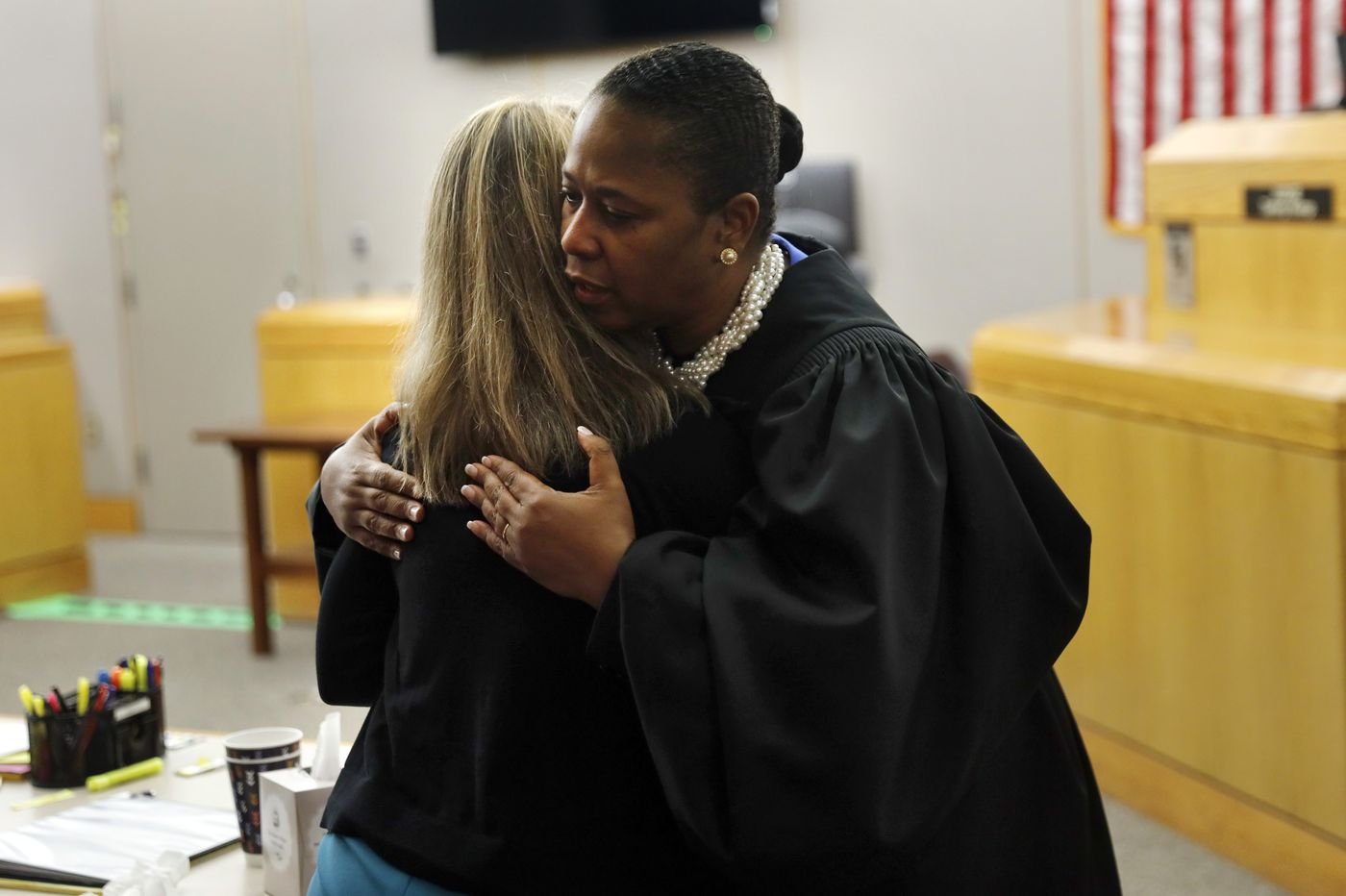 Dallas judge defends giving cop convicted of murder a bible and hug, saying she 'could not refuse'