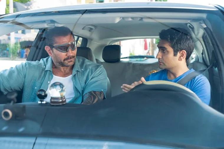"Dave Bautista as Vic and Kumail Nanjiani as Stu in ""Stuber."" (Mark Hill/20th Century Fox)"