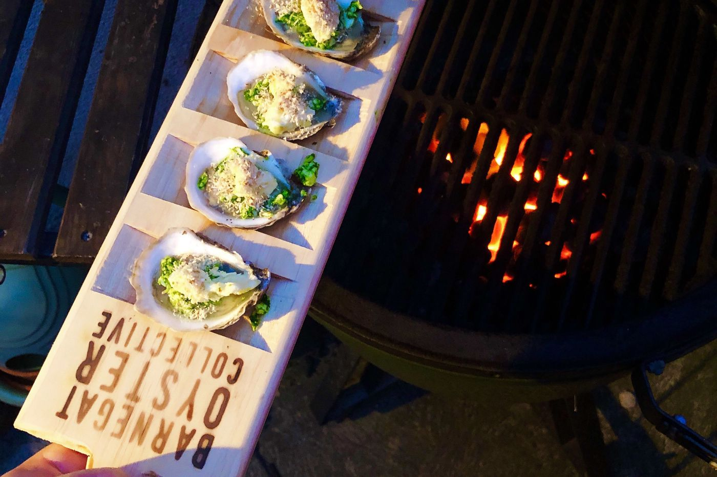 Get New Jersey oysters — and a board to hold them — delivered to your door