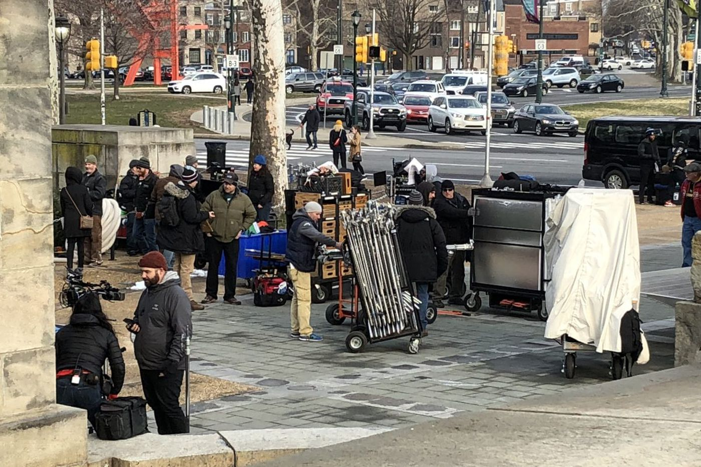 'Creed II' filming at the Art Museum: Dolph Lundgren spotted