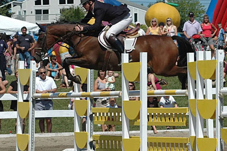 The Ludwig's Corner Horse Show has operated since 1943. The Labor Day show attracts hundreds of riders and thousands of spectators. Its grounds are also used for other events.