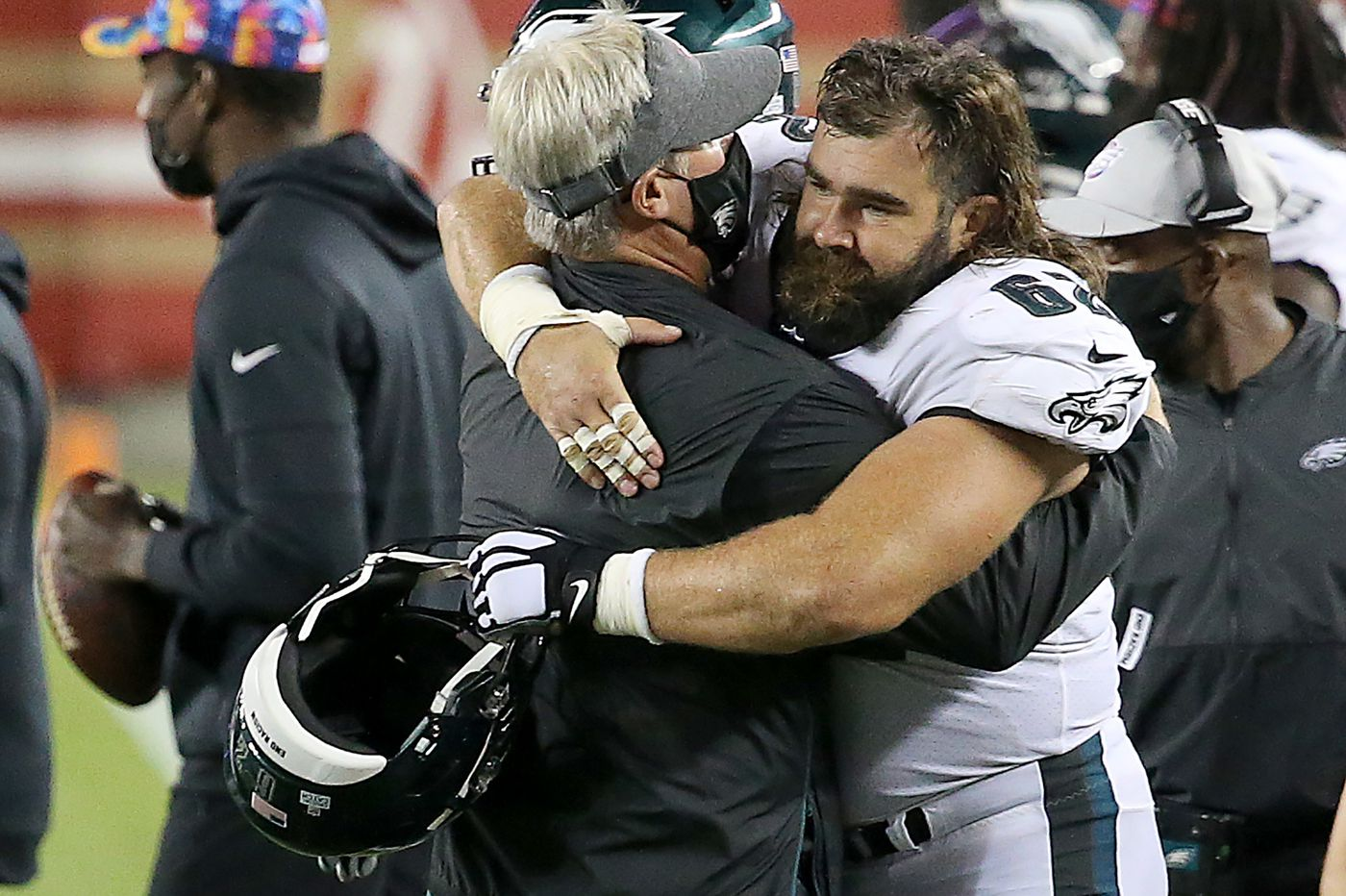 Jason Kelce says he was surprised Sunday, but he and the Eagles believed they could win with Nate Sudfeld