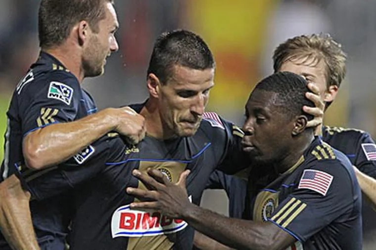 So far in their second season, the Union are 10-7-14. (Michael Bryant/Staff file photo)