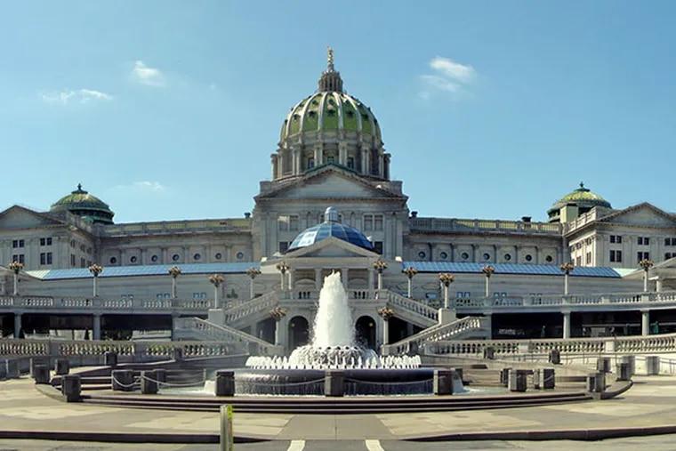 Pennsylvania state Capitol in Harrisburg.