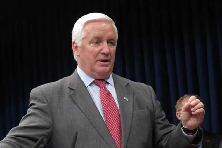 The PennDot contract for information technology services with Ciber Inc., of Denver, will be put out to bid again, Corbett's office said Friday. (AP Photo/Marc Levy)