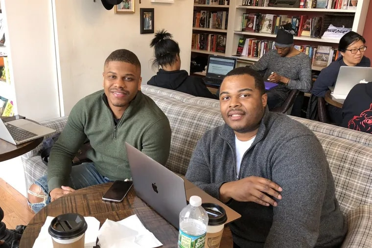 Bryheim Murray and Kyle Easley, real estate developers at the firm BK Partners, visited Uncle Bobbie's for the first time on Monday.