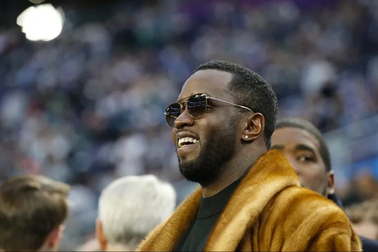 P. Diddy at the Super Bowl LII, at U.S. Bank Stadium in Minneapolis, Minnesota, Sunday, Feb. 4, 2018. YONG KIM / Staff Photographer