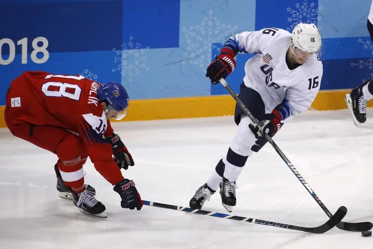 Ryan Donato (16) was one of the bright spots for the United States, with five goals.