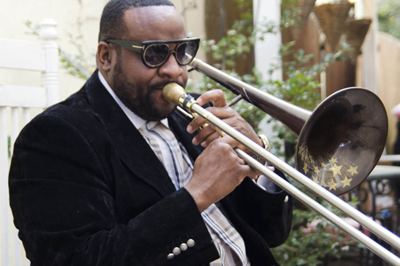 Listen to the sound of trombonist Jeff Bradshaw's Philadelphia - on CD and at the TLA Tuesday