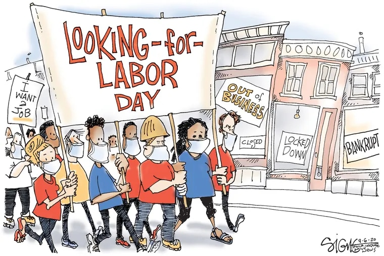 Labor Day march for jobs.