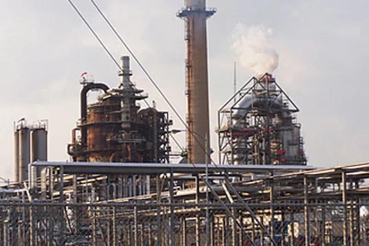 The Valero refinery in Delaware City, Del