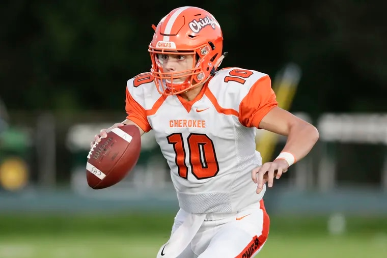 Billy Osborn threw a pair of touchdowns and ran for two more to lead Cherokee past Kingsway, 35-18, in the Central Group 5 final on Friday.
