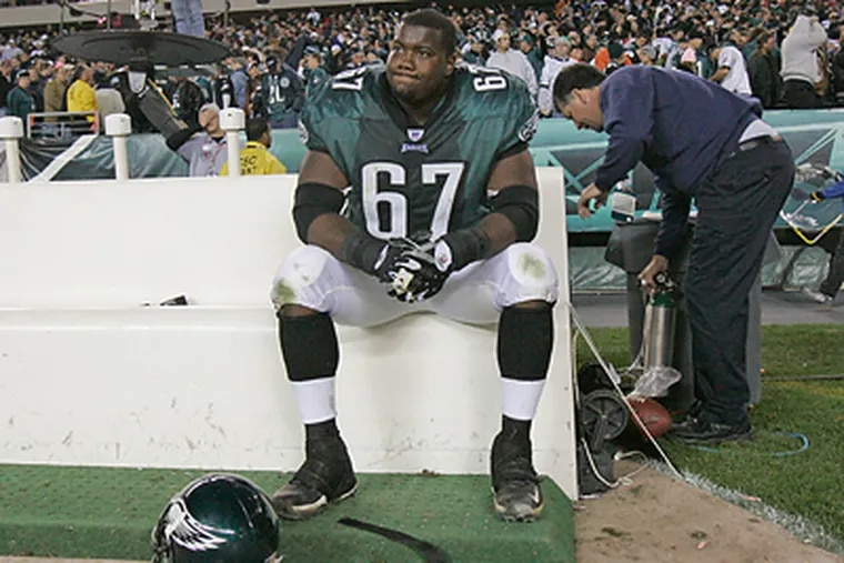Eagles offensive lineman Jamaal Jackson's brother, Kamar, was killed Sept. 14 by an alleged hit-and-run driver in Miami. (Jerry Lodriguss/Staff file photo)