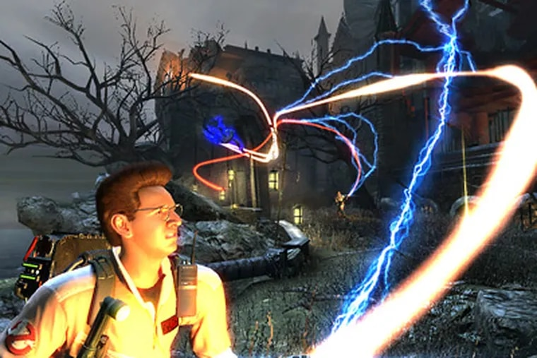 """In this video game still released by Atari, a scene featuring Dr. Egon Spengler, voiced by Harold Ramis, is shown from,  """"Ghostbusters: The Video Game."""" (AP Photo/Atari)"""