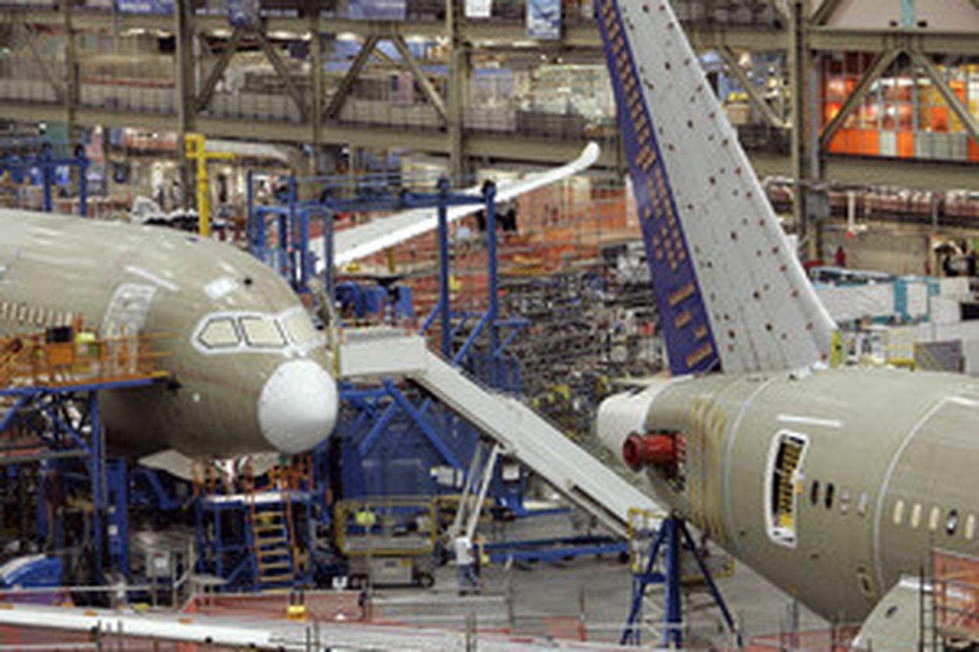 Boeing near milestone on new 787