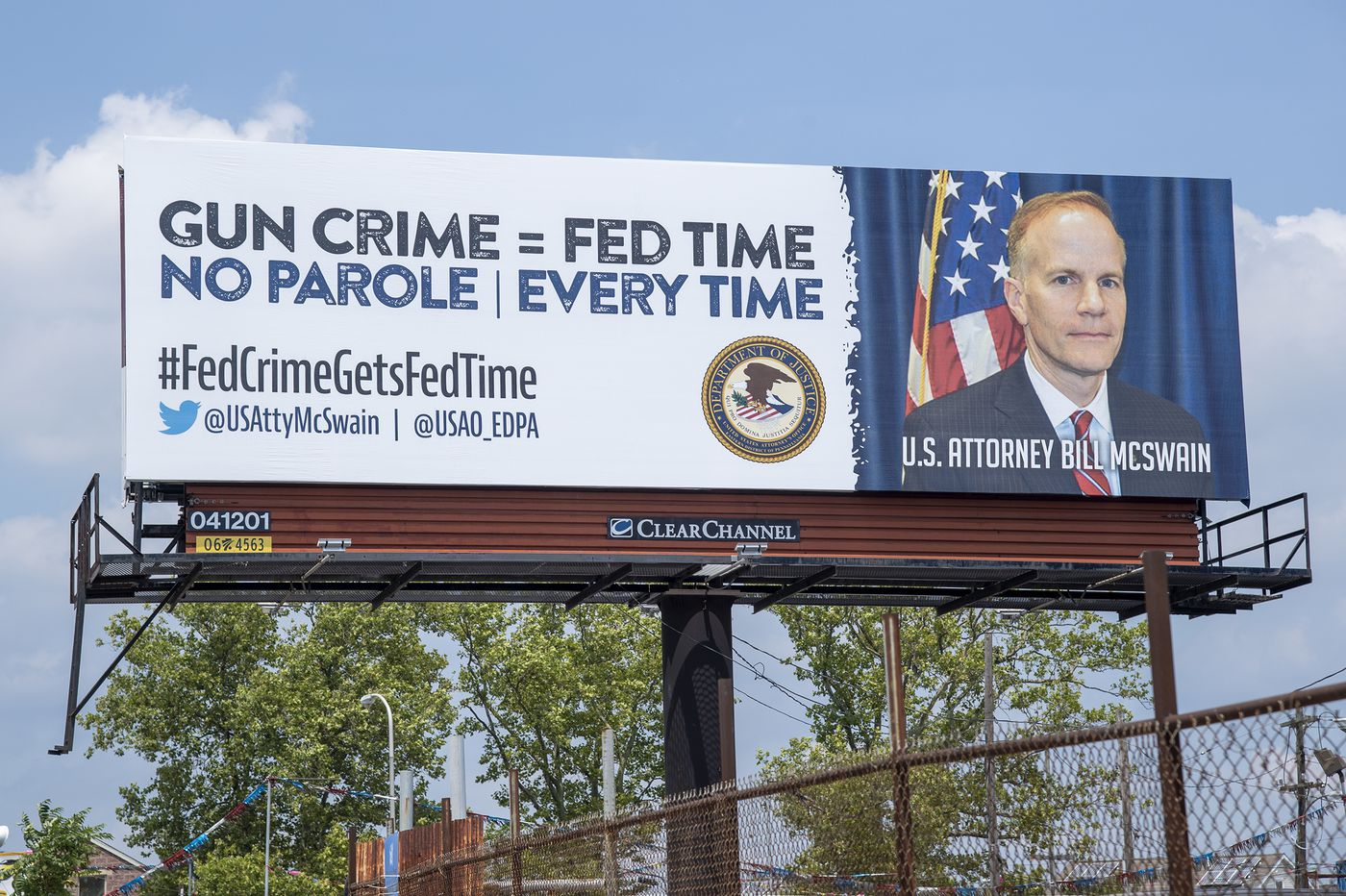 U.S. Attorney Bill McSwain spent more than $75,000 to slap his name and face on billboards